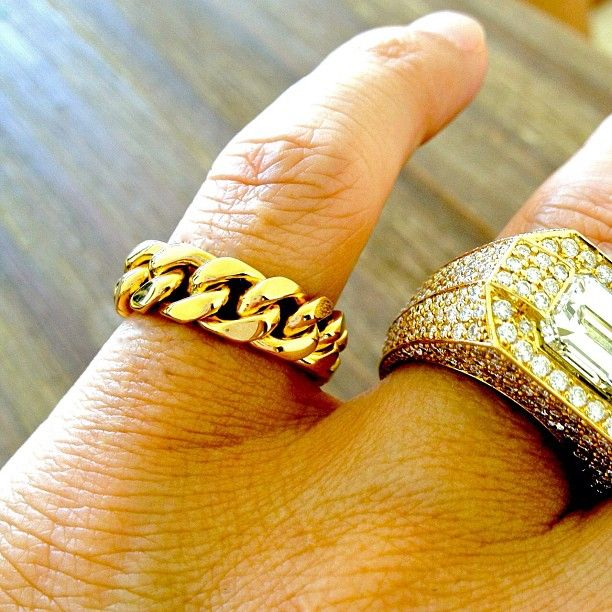 Cuban Link Pinky Ring Mens Pinky Ring Gold Pinky Ring Jewelry Fashion Trends
