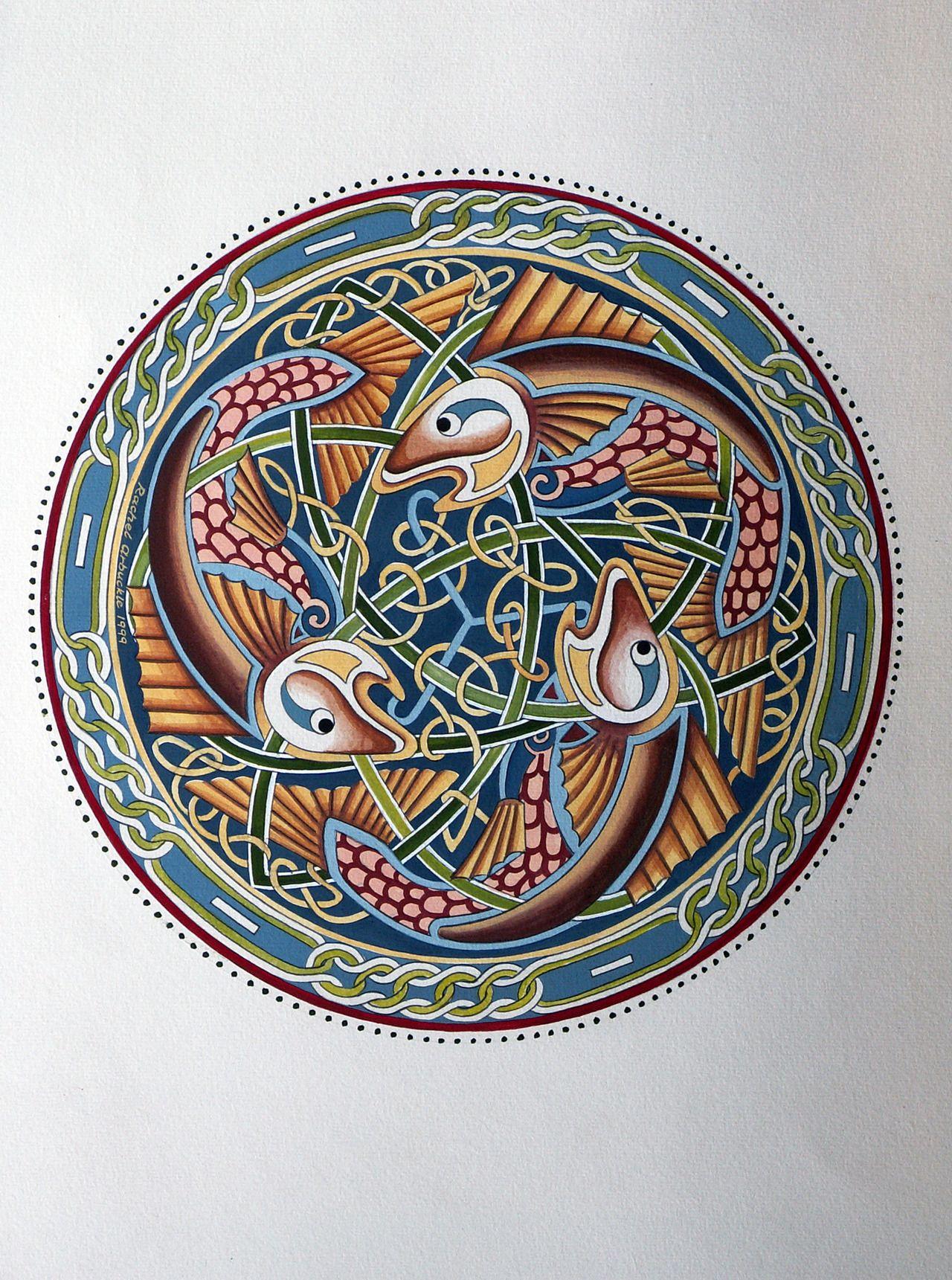 Owl greeting card set welsh artist jen delyth celtic art studio - Celtic Fish By Rachel Arbuckle The Salmon Of Knowledge Irish Brad N Feasa