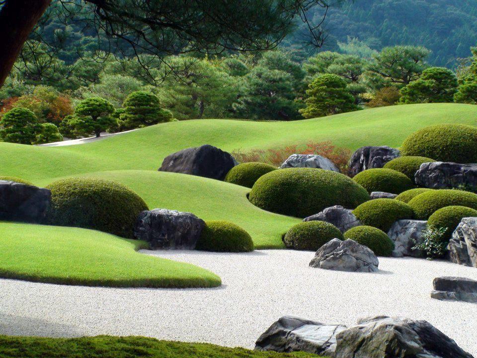 nice stone work - adachi museum