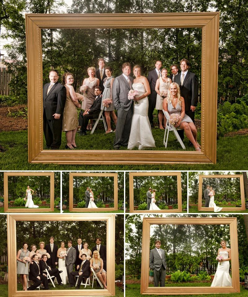 Love this! Giant picture frame at the altar. [Photos by Becca Dilley ...
