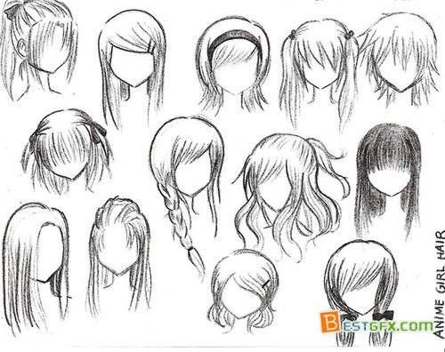 How To Draw Curly Anime Hair Google Search Comment Dessiner Des Cheveux Cheveux Manga Dessin De Cheveux