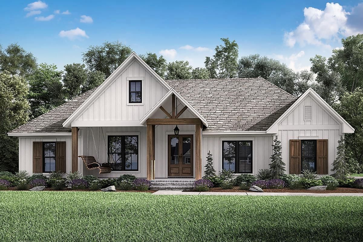 32 Best Farmhouse Home E Terior Design Ideas 26 Best Inspiration Ideas That You Want In 2020 Craftsman House Plan Craftsman House House Plans Farmhouse