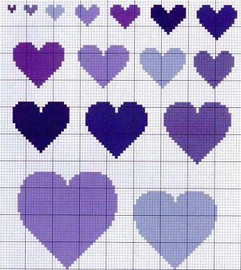 cross stitch heart chart