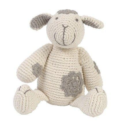 Kuscheltier, wunderschönes Häkeltier als Affe, Schaf oder Hase, 25 cm