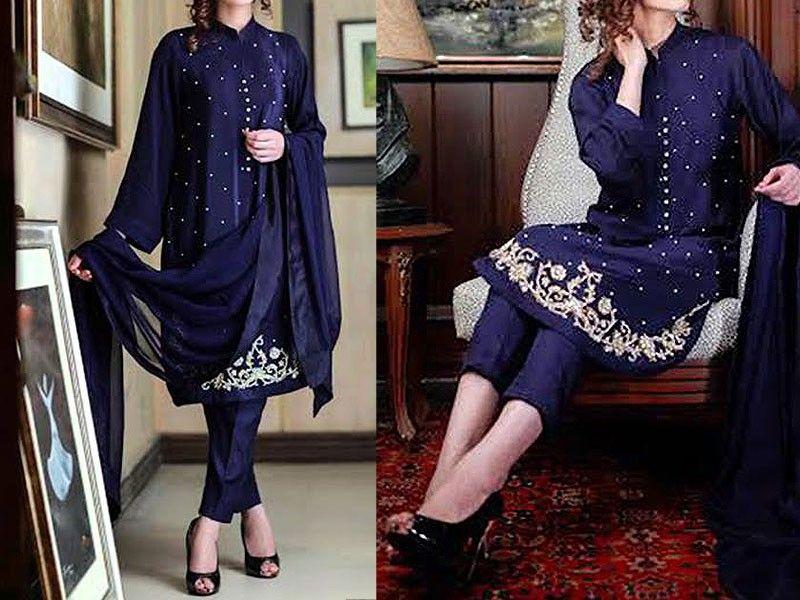 Designer Embroidered Chiffon Dress Price in Pakistan | pakistani ...