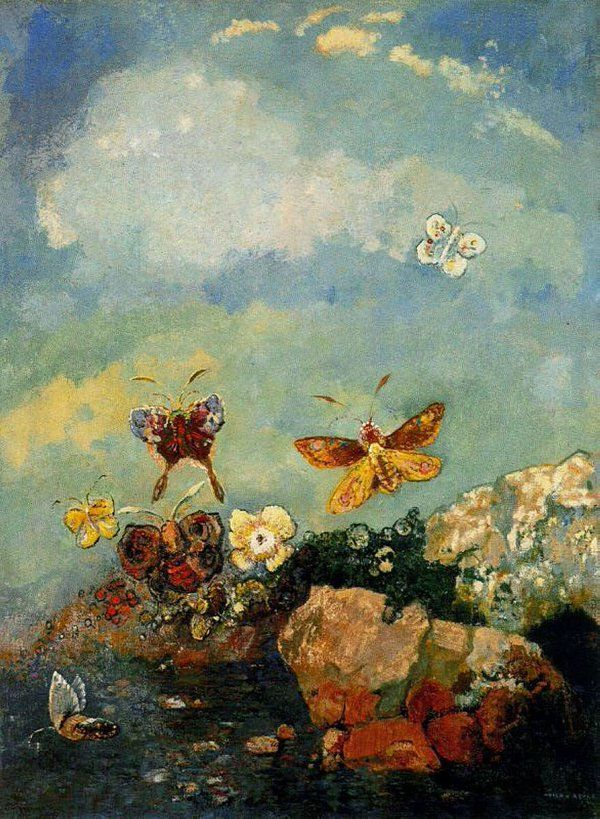 Odilon Redon(1840ー1916 French)「Butterflies」