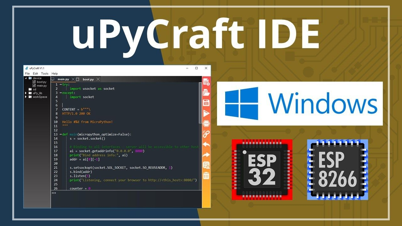 We recommend using the uPyCraft IDE to program ESP32 or ESP8266