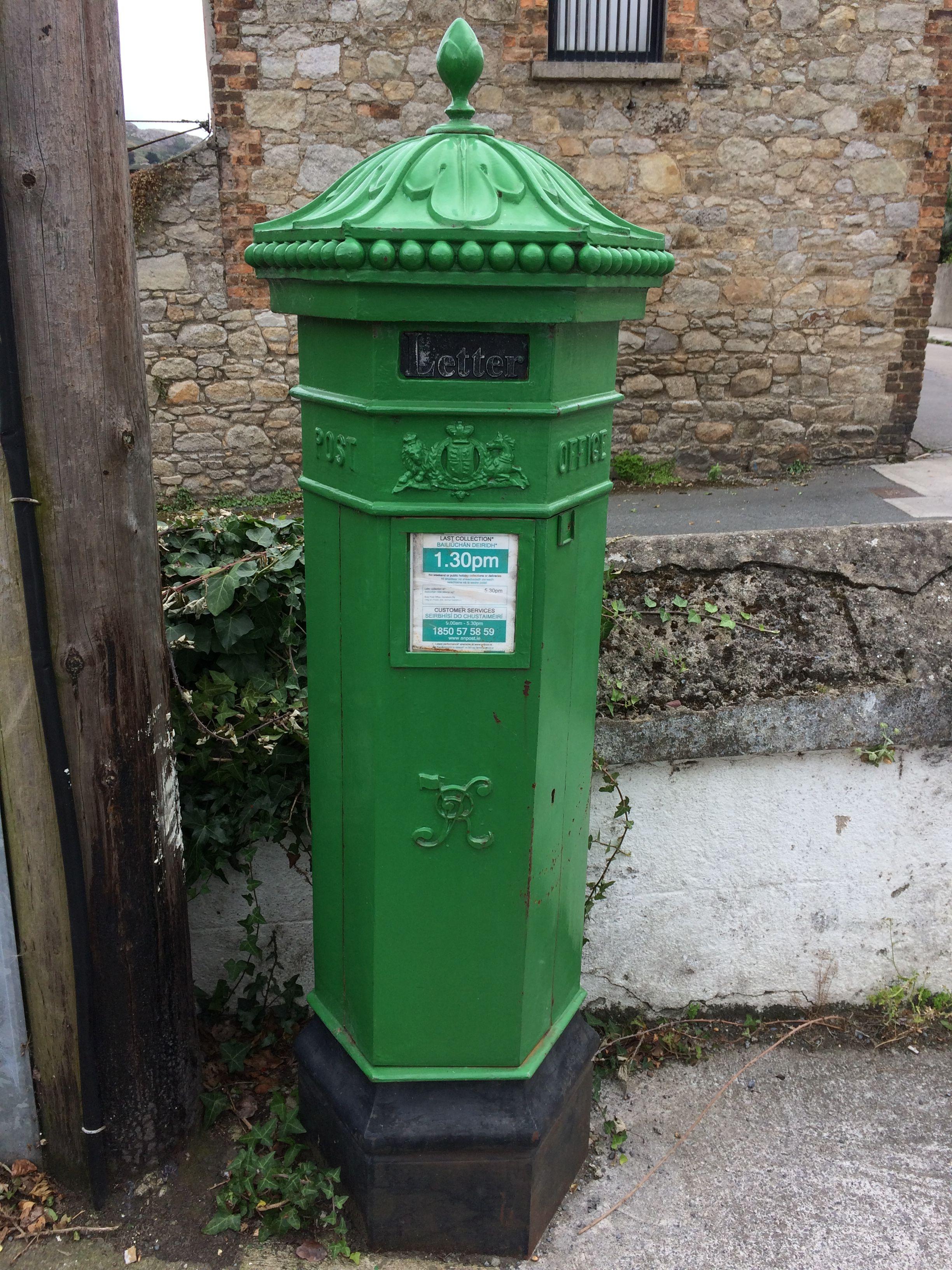 Old Victorian penfold Irish post box from British rule