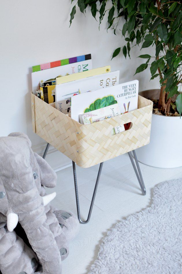 How to Hack an Ikea Bamboo Storage Box Into a Cute Book Bin images