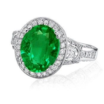 Oval Emerald Engagement Rings Ringscladdagh