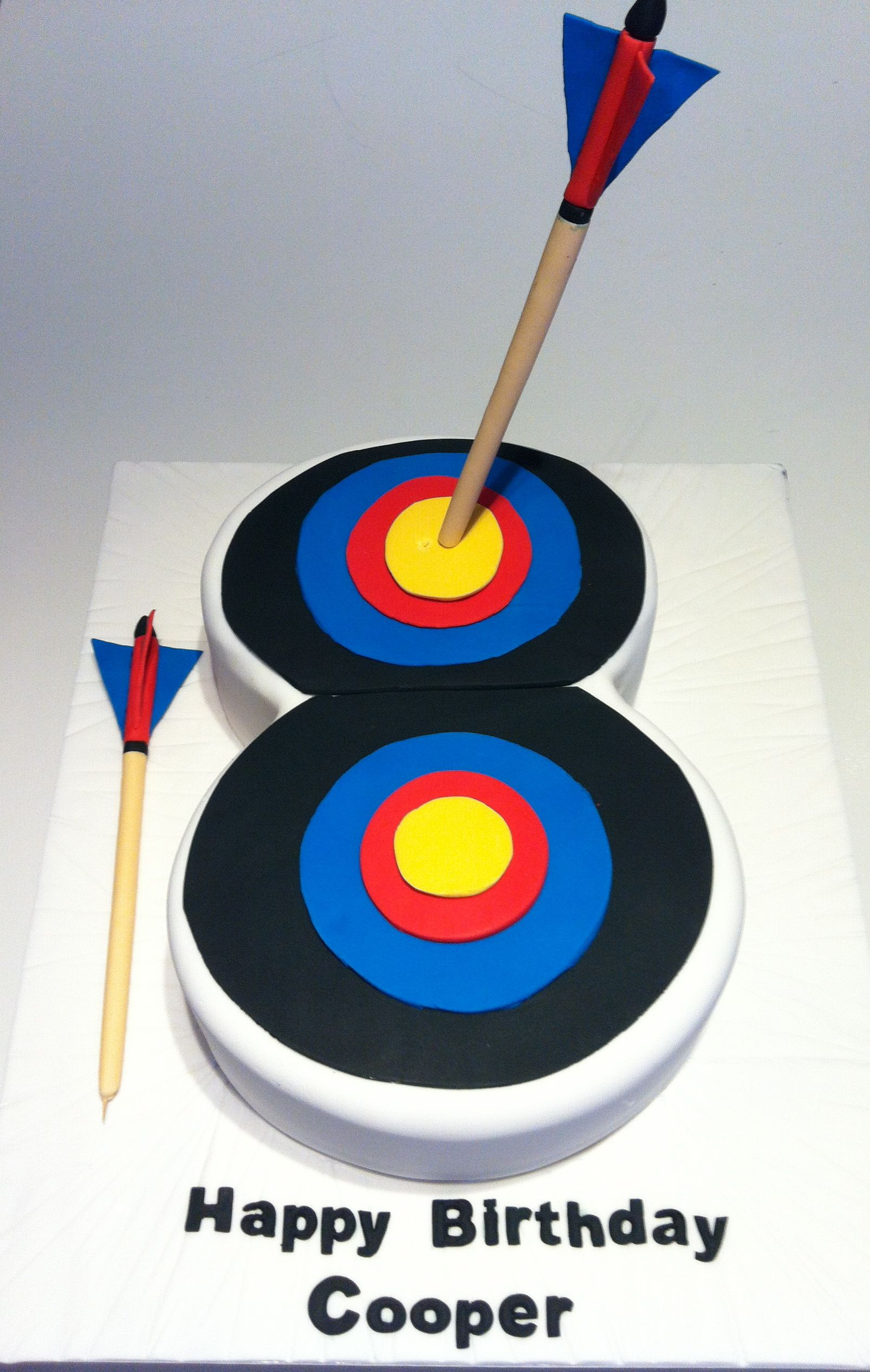 Archery Target Cake Happy Birthday Cooper shahems birthday