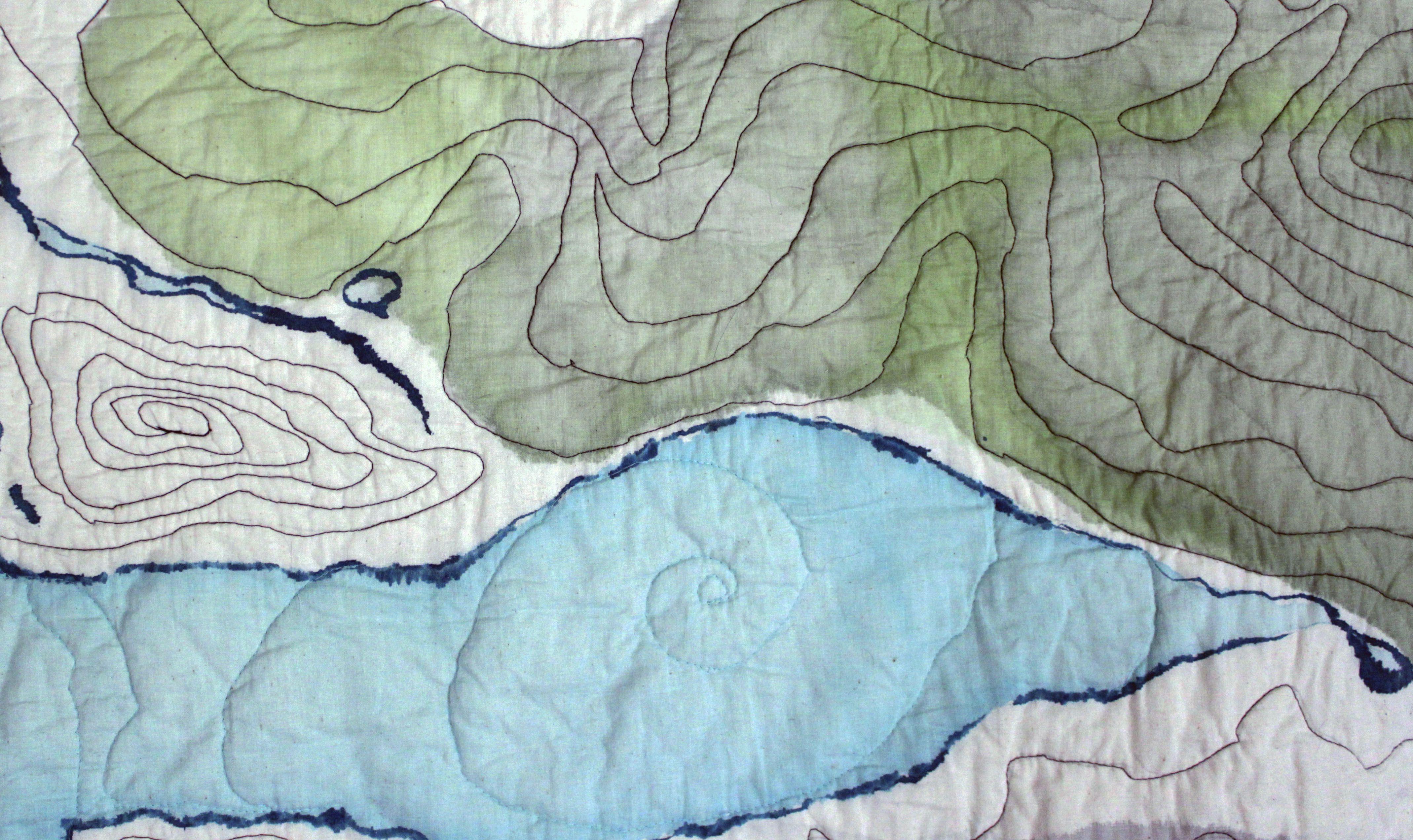 Topographic Map Quilt