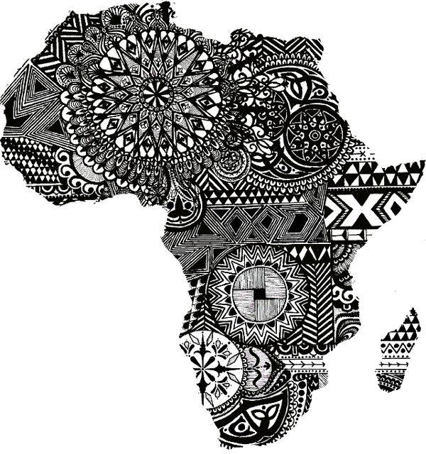 Open versio: Ensin Afrikan ääriviivojen piirtäminen A3:lle, sitten taustan maalaus vesiväreillä märälle, lopuksi täyttö zentanglella. Oppilaiden versio: Sama, mutta eivät tee Afrikkaa, vaan jonkin Afrikan eläimen.