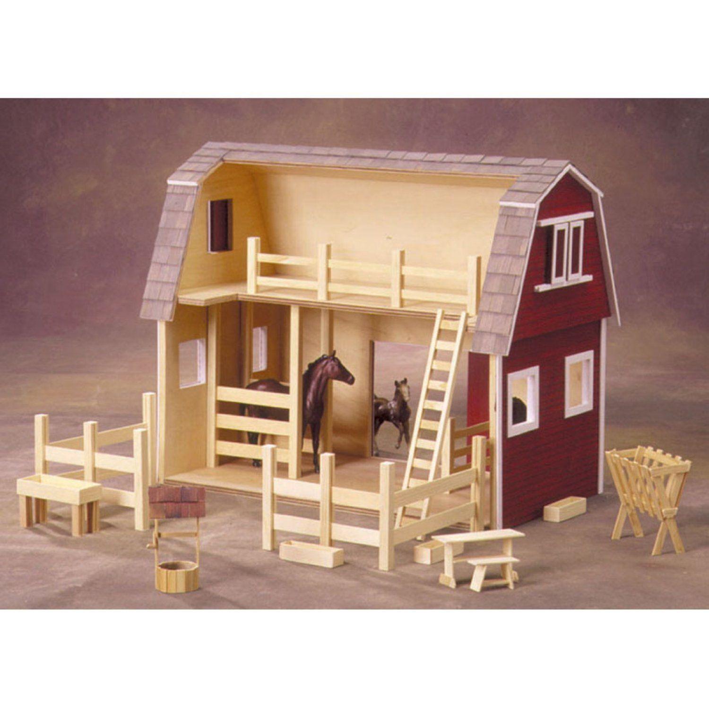amazon: ruff 'n rustic all american big barn dollhouse