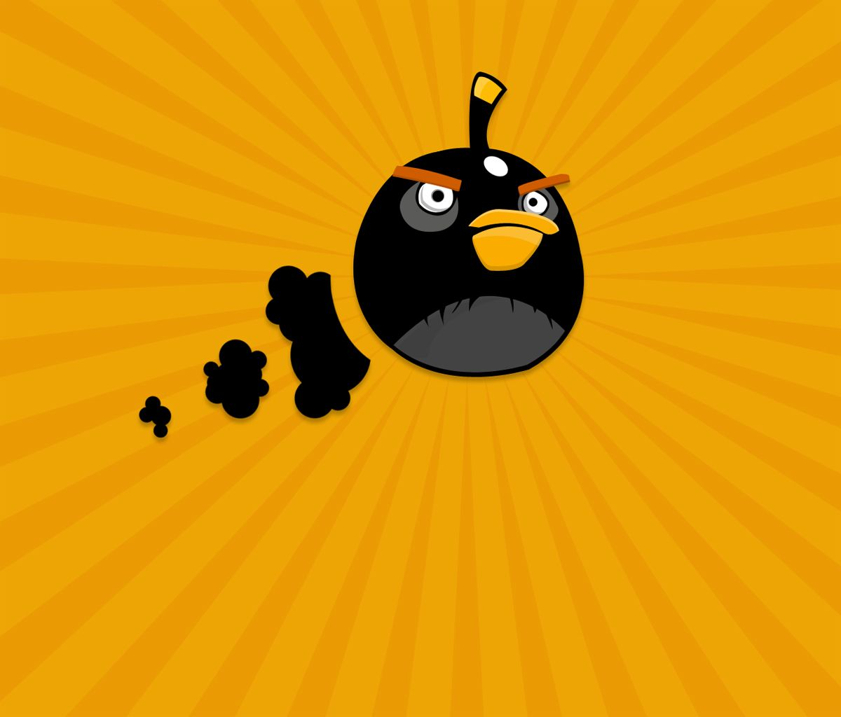Angry Birds Black Bird Flying Images