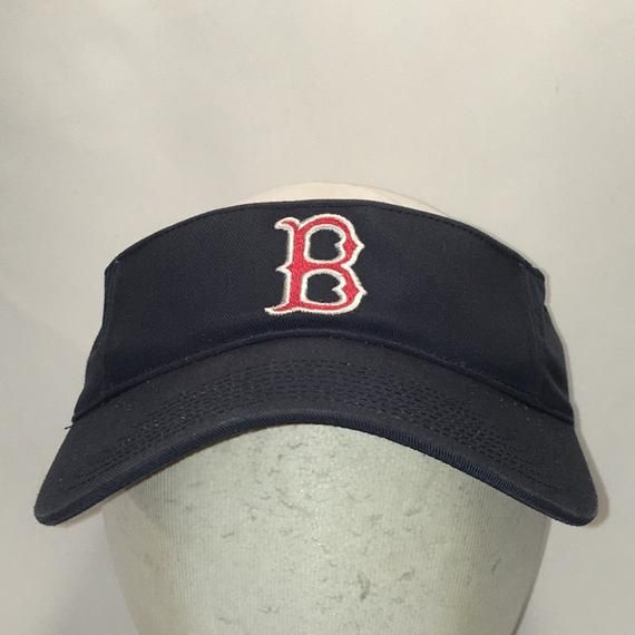 Vintage Boston Red Sox Visor Hat MLB Baseball Cap Blue Red White Mens Visors  Cool Summer 712c12c7753
