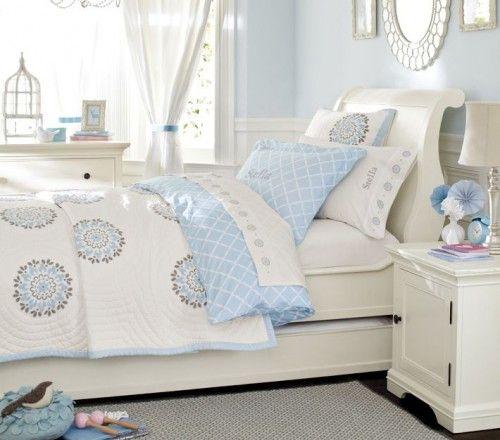 Dormitorio ni a celeste y blanco cuartos pinterest for Dormitorio nina blanco