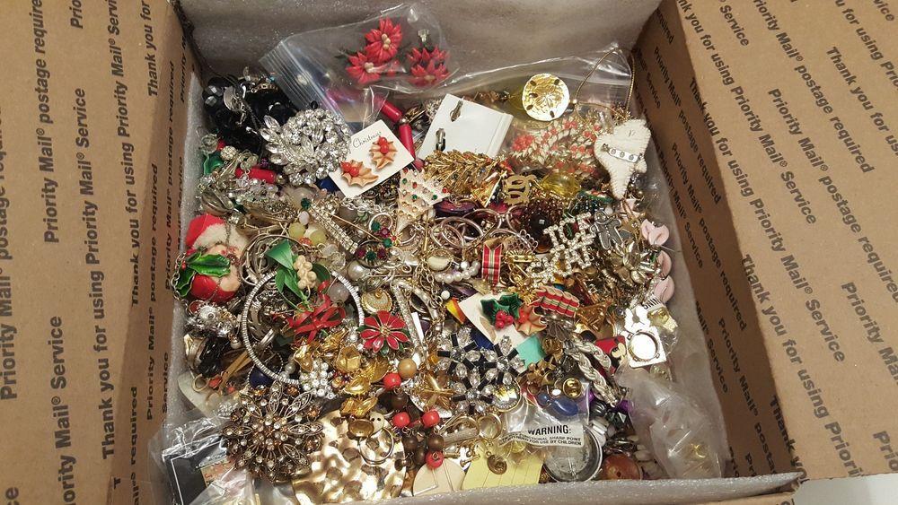 HUGe 15 lbs Vintage & Modern Jewelry Repair Craft Harvest Lot Signed Pieces #vintage #jewelry #ebay #rhinestone #craft
