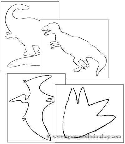 Dinosaur Pin-Poking and Cutting - Printable Montessori materials that save teachers time for Montessori Learning at home and school.
