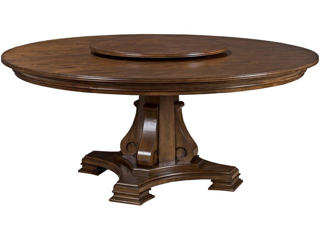 Portolone Stellia 72 Round Pedestal Table Kt 34942 Dining Table Kincaid Furniture Round Dining Table
