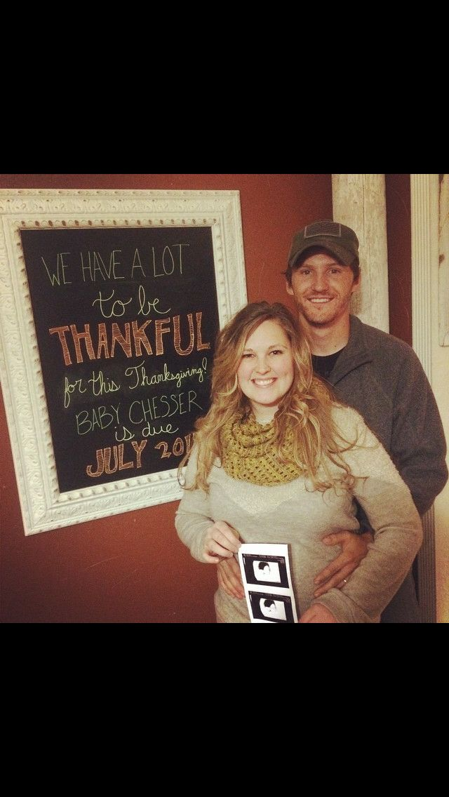 thanksgiving pregnancy announcement chalkboard
