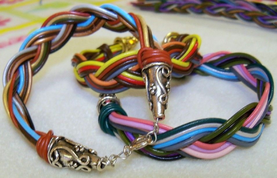 Luscious Leather Braided Bracelets
