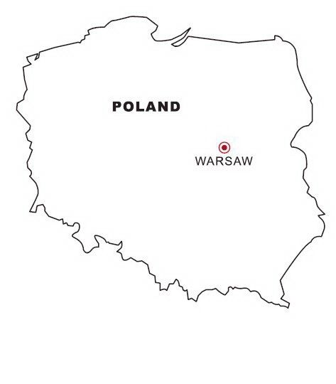 Printable Map Of Poland Coloring Page Printable Maps Poland Map