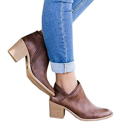 4f4b9608cc7d Bottine Femmes Plates Boots Femme Cuir Cheville Basse Bottes Talon Chelsea  Chic Compensé Grande Taille Chaussures 5cm Beige Bleu Gris Noir 35-43 BR41