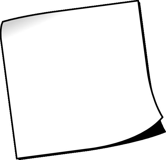 White Sticky Notes Kertas Putih Kartun