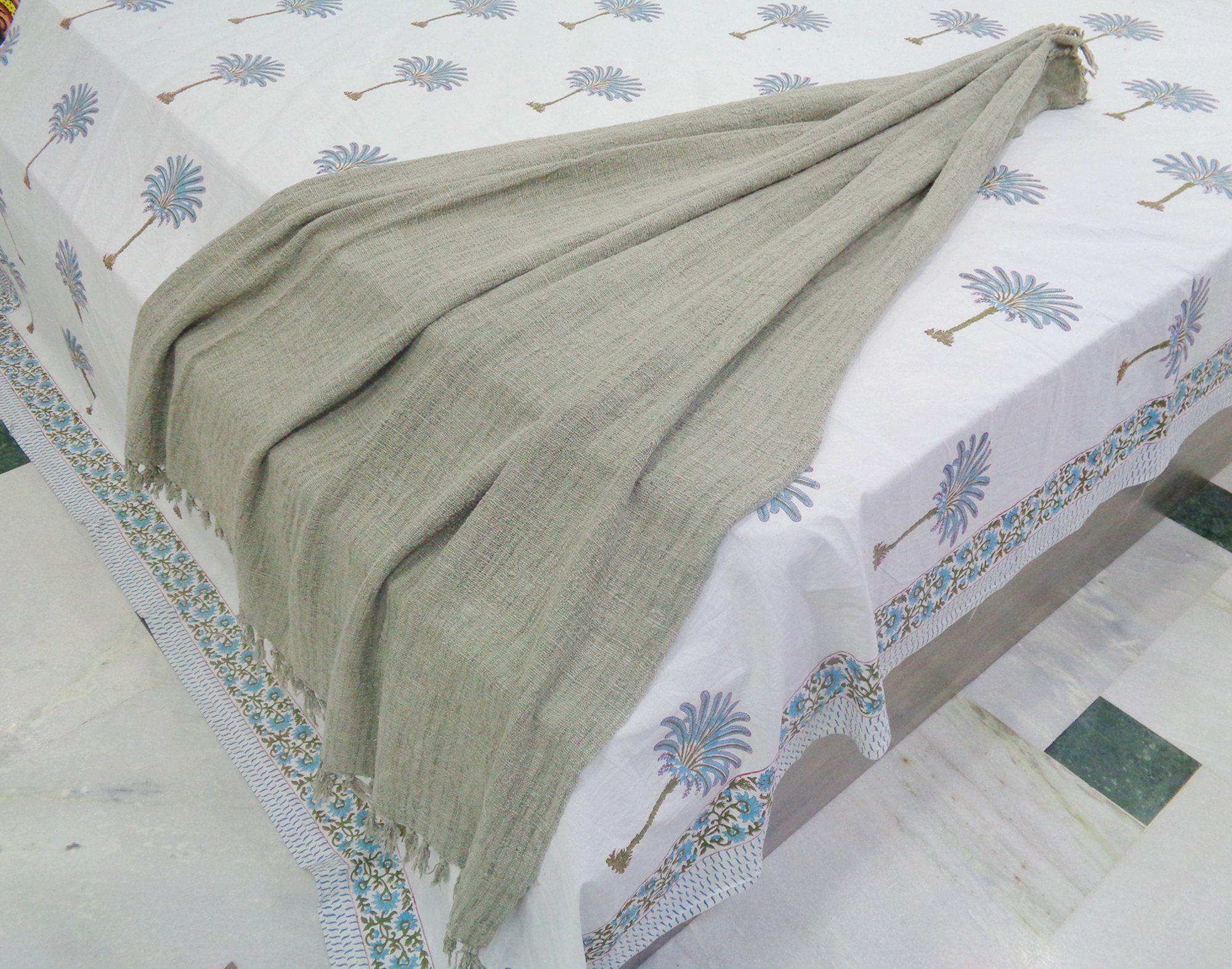 50x70 Inch Handmade Throw Cotton Gray Blanket Indian Sofa Boho Throw Bohemian Throw Handloom Cotton Bed Scarf Cotton Couch Throw In 2020 Handmade Throws Cotton Bedding Cotton Throws