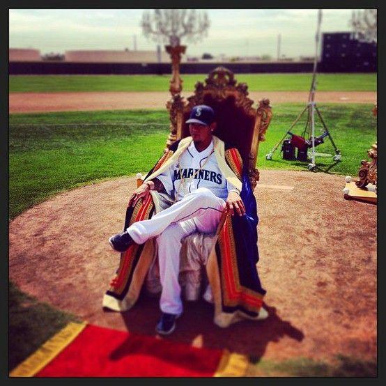 King Felix On His Throne Felix Hernandez Seattle Mariners Spring Training
