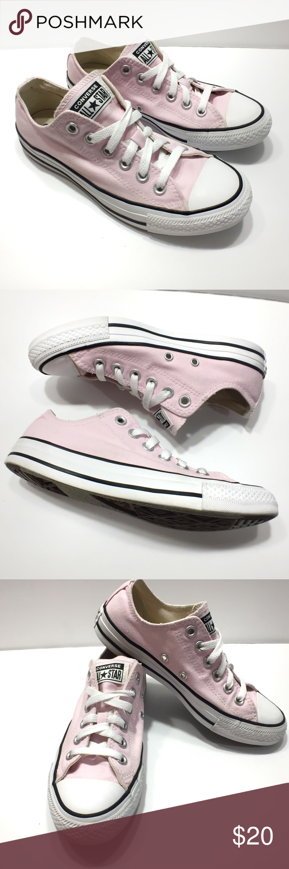 Converse Light Pink All Star Low Top Sneakers Gently Used