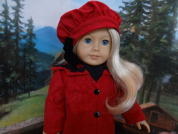 American Girl Doll Rebecca/'s Winter jacket Coat and Hat Set New