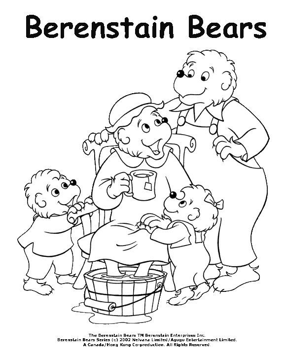 Berenstain Bears Helping Mama Bear Coloring Pages Coloring Pages Berenstain Bears