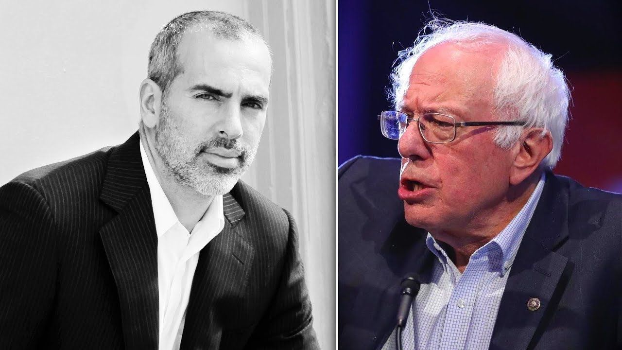 2020 debate candidate Bernie Sanders with Peter Daou