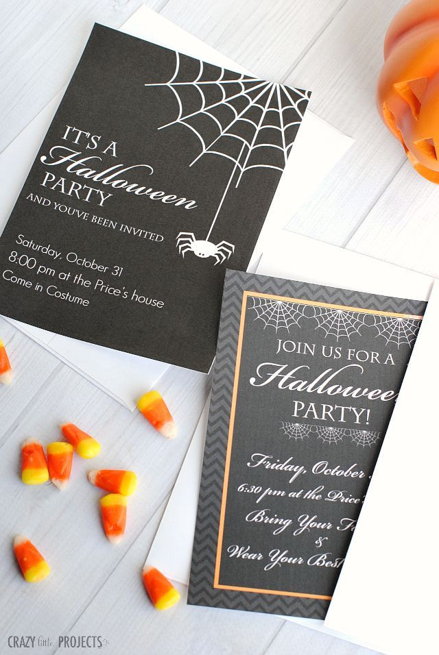 free printable halloween party invitations best of pinterest