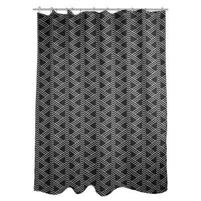 Home Classics Della Fabric Shower Curtain Fabric Shower