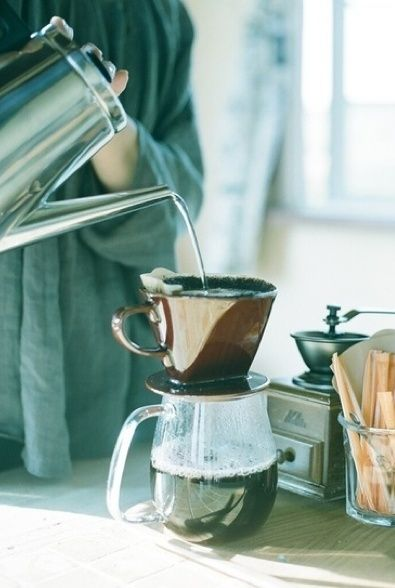 The smell of fresh coffee~