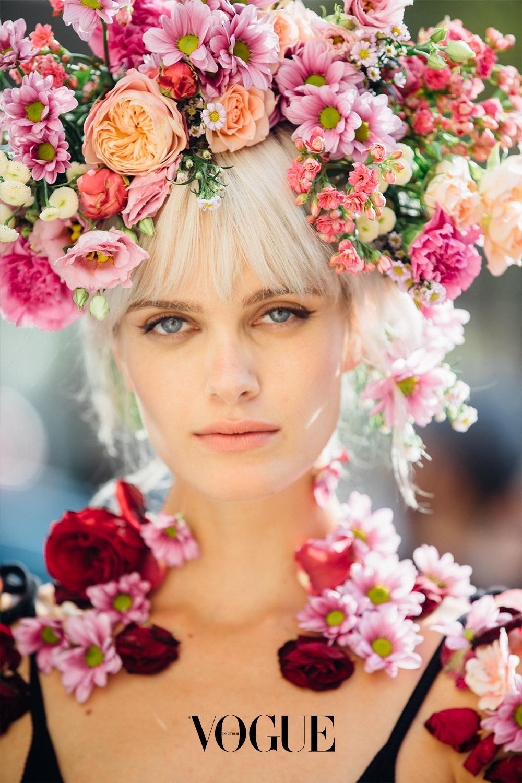 Blumenkranz Frisur