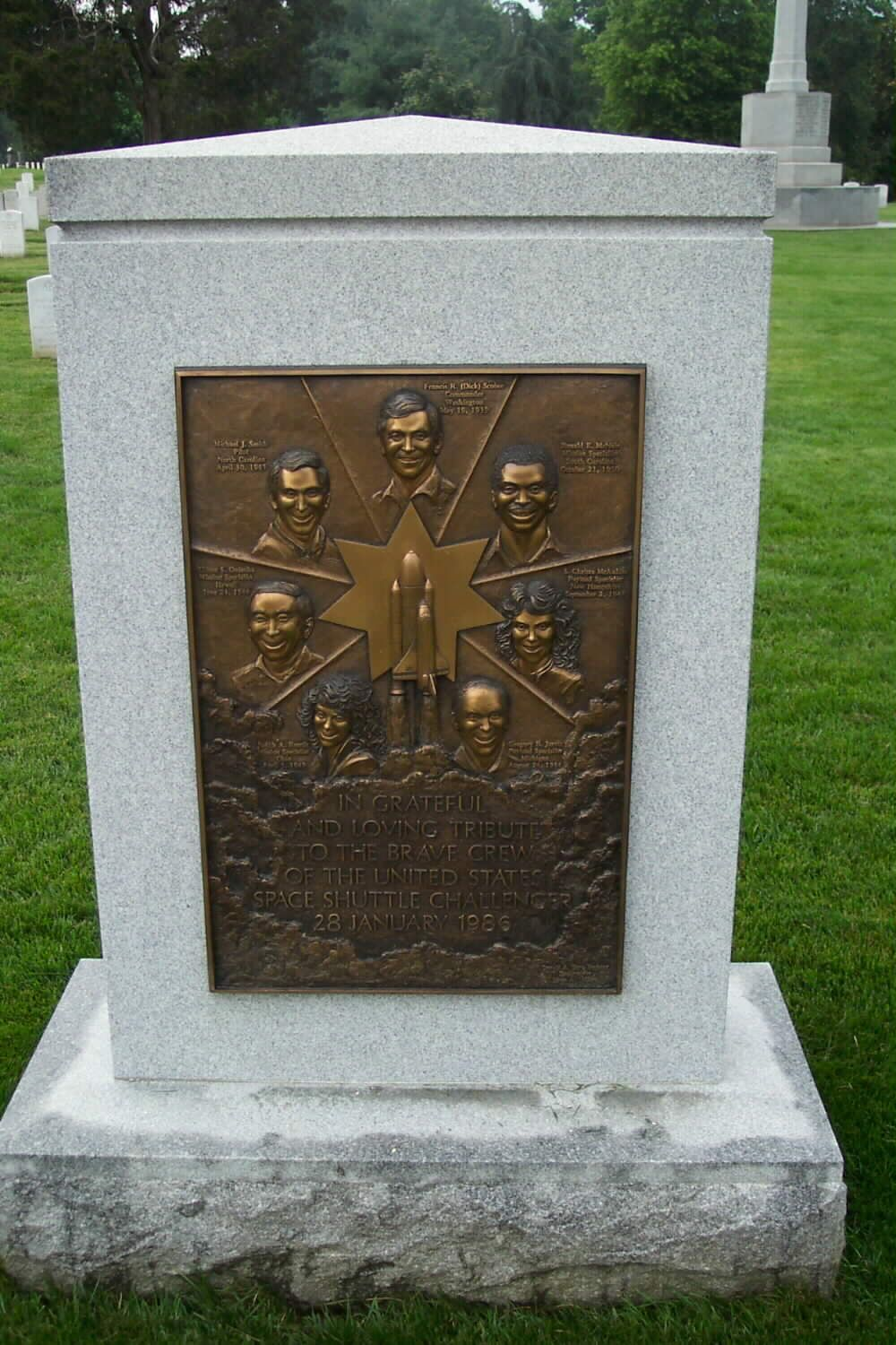 Shuttle Challenger Memorial- Arlington National Cemetery ...