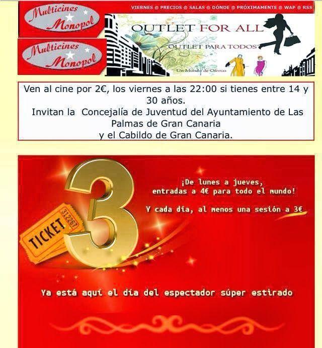 Promoción en el Cine Monopol | Canarias Free
