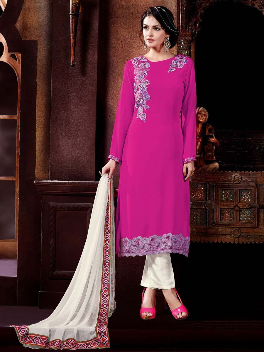 Get ready to reveal your true beauty.  Item Code: SLANA10778 http://www.bharatplaza.com/new-arrivals/salwar-kameez.html