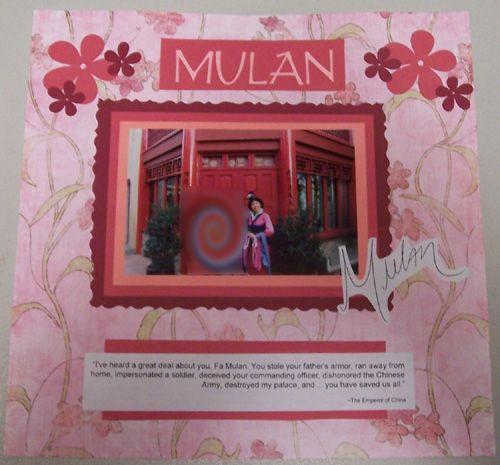 Mushu Mulan Disney Scrapbook Page Kit