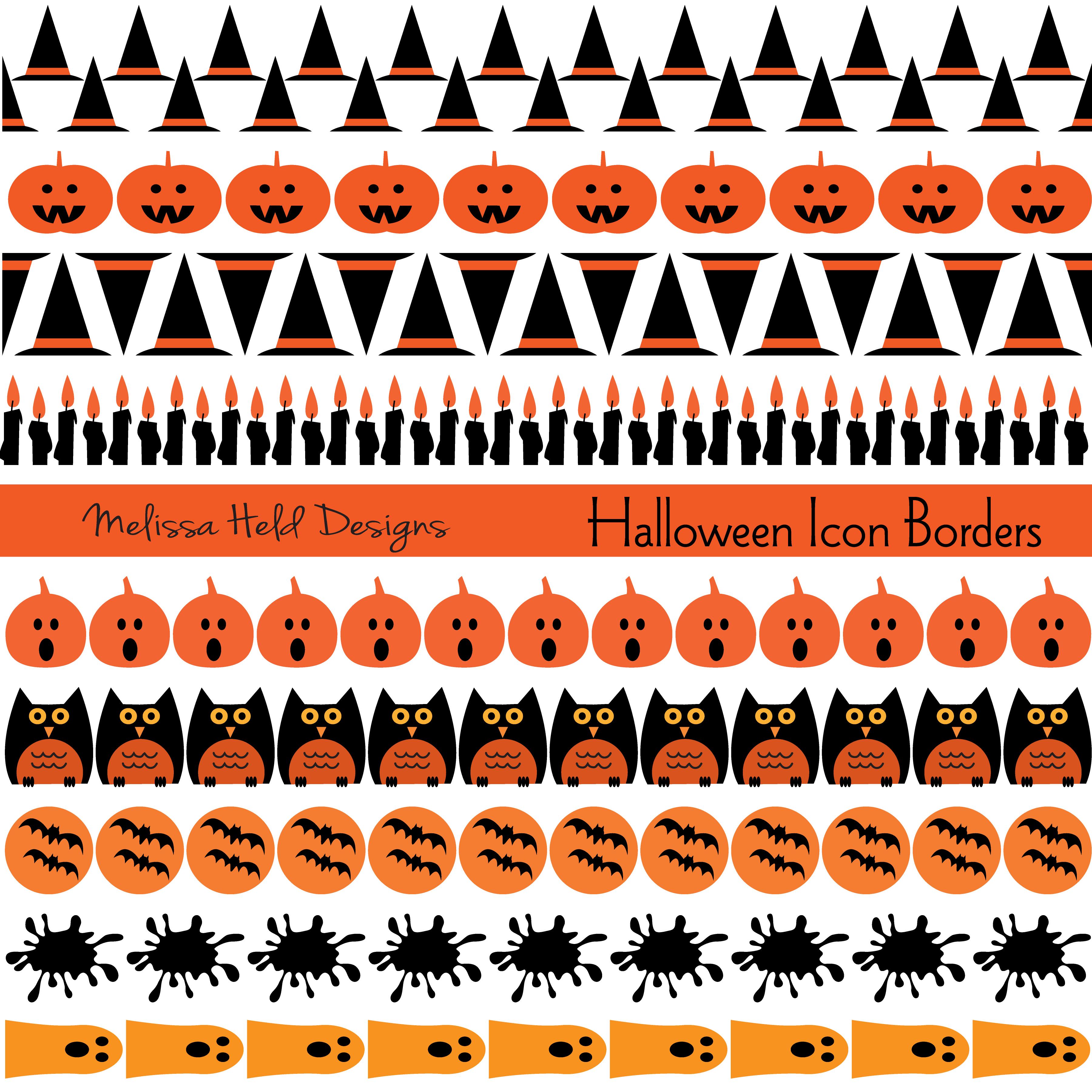 Halloween Icon Borders