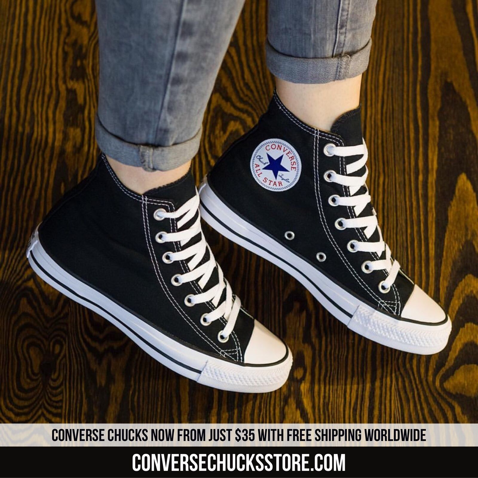 2a79ed5d4141 Chucks from  35 with free worldwide shipping. Order now on our website.   chucks  chucktaylor  chucktaylors