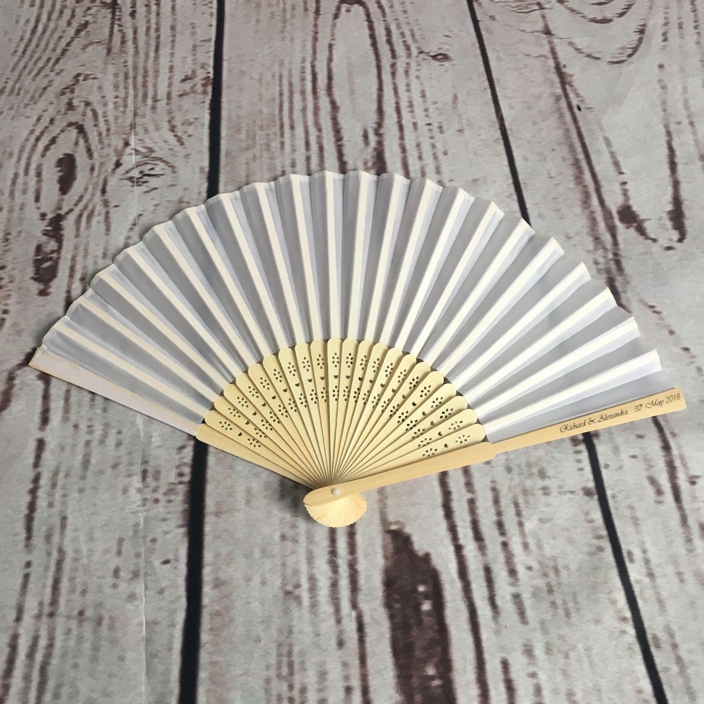 GREY Paper Fan Beach Wedding Fans Favors