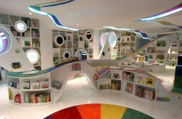 Futuristisk bokhandel