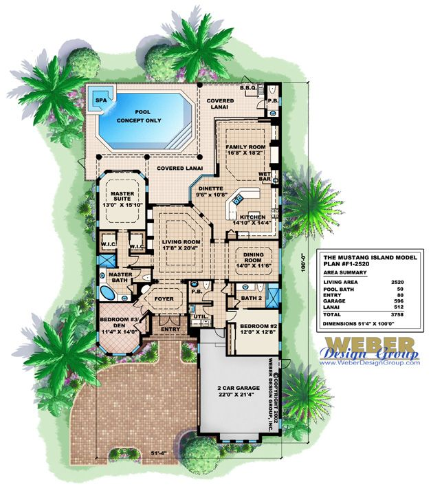 Mediterranean House Plan 1 Story Home Floor Plan For Narrow Lot Mediterranean Style House Plans How To Plan Narrow Lot House Plans