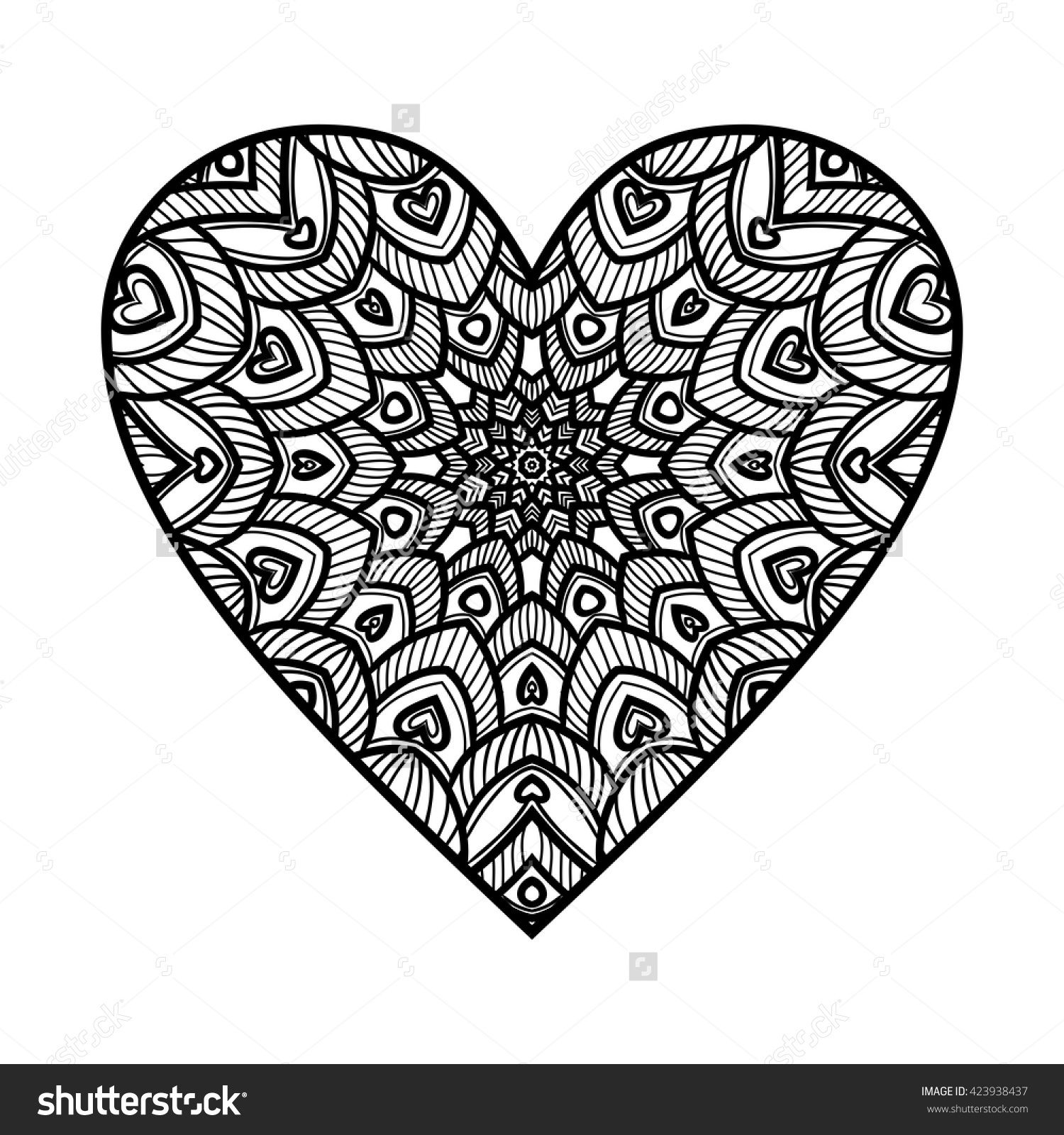 ornate heart mandala pattern coloring pages mandala pattern mandala coloring pages. Black Bedroom Furniture Sets. Home Design Ideas