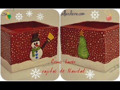 C mo hacer cajas de navidad youtube adornos - Cajas de carton de navidad ...